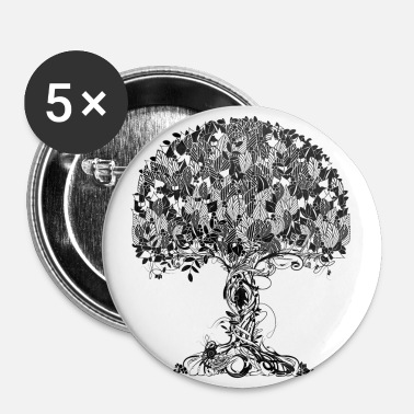 Nature Collection An ancient magical tree - Large Buttons