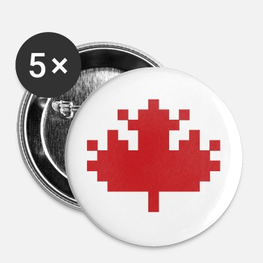 Maple Leaf Pixel Maple Leaf - Large Buttons