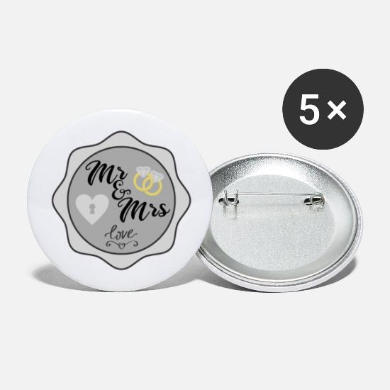 Mrs Buttons - Mr And Mrs - Large Buttons white