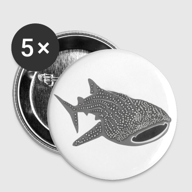 save the whale shark sharks fish dive diver diving endangered species - Large Buttons