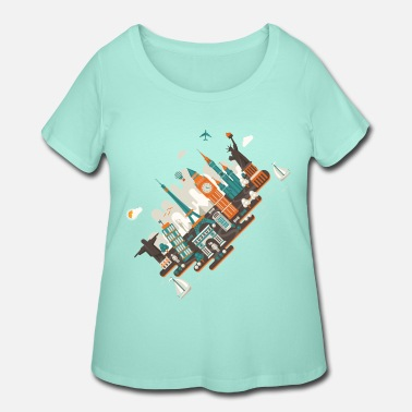Inclined Tower A series of works everywhere I will - Women's Plus Size T-Shirt