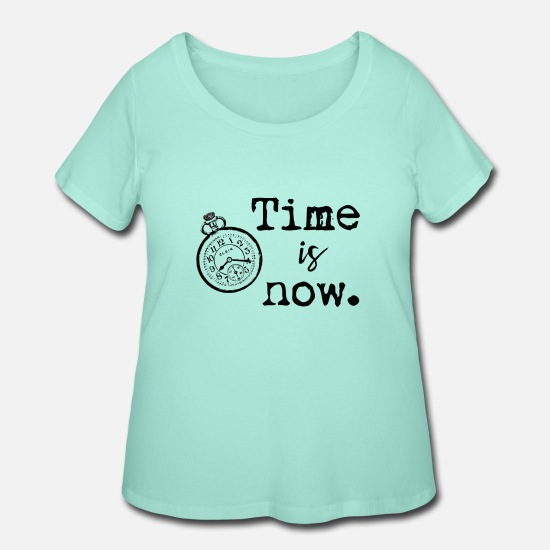 Year T-Shirts - Time - Women's Plus Size T-Shirt mint