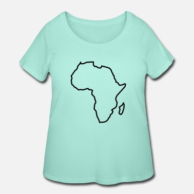 Outline Graphics africa outline - Women's Plus Size T-Shirt