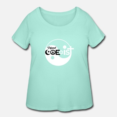 Phone Defend Coexist Equality - Women's Plus Size T-Shirt