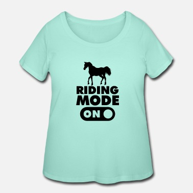 Western Riding Riding Mode on Horse - Women's Plus Size T-Shirt