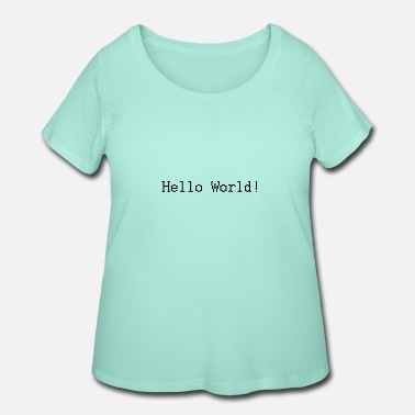 Php Hello world! Classic - Women's Plus Size T-Shirt