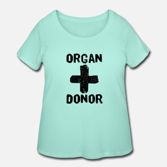 Red T-Shirts - Organ Donor Black - Women's Plus Size T-Shirt mint