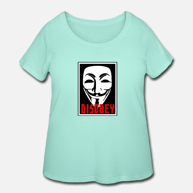 Disobey DISOBEY MASK - Women's Plus Size T-Shirt
