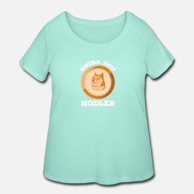 Summer Trend Shiba Inu Hodler Crypto Token Coin Cryptocurrency - Women's Plus Size T-Shirt