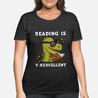 Library Reading Is T-Rexcellent - Women's Plus Size T-Shirt