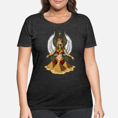 Symbol Egyptian Goddess Isis Ancient Queen - Women's Plus Size T-Shirt