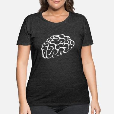 Outline Graphics Brain Outline - Women's Plus Size T-Shirt