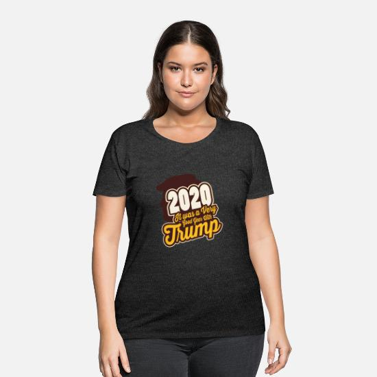 2020 T-Shirts - Trump 2020 is good year - Women's Plus Size T-Shirt deep heather