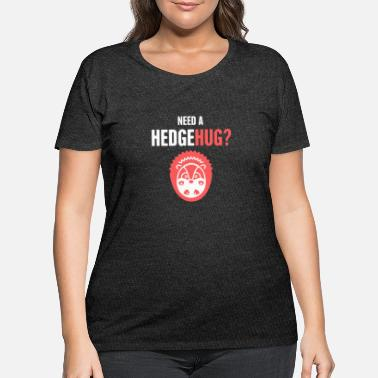 Hog Hedgehug | Funny Pet Hedgehog Graphic - Women's Plus Size T-Shirt