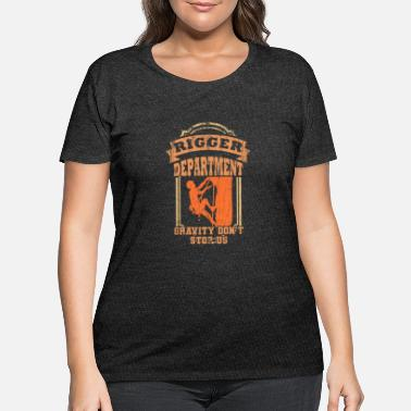 Stage Rigger Stagecrew Crew Rigging Event Gift - Women's Plus Size T-Shirt