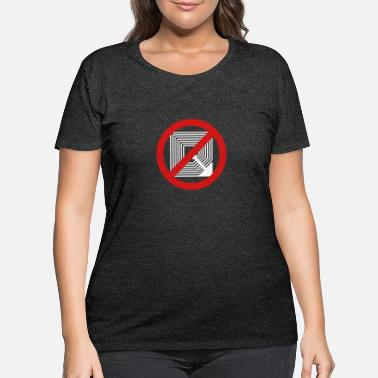 Frequency Stop RFID 2b - Women's Plus Size T-Shirt