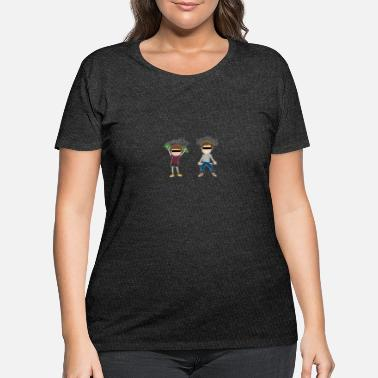 Wealthy wealthy destitute - Women's Plus Size T-Shirt