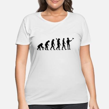 Evolutionary History evolutionary theory with selfmade photo - Women's Plus Size T-Shirt
