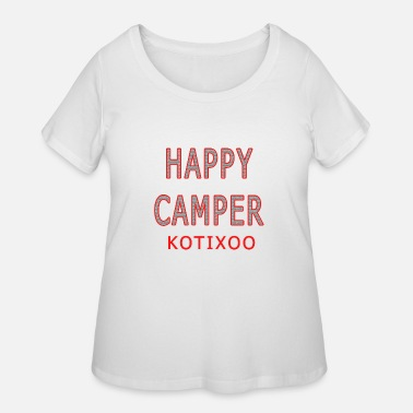 9339990f HAPPY CAMPER - kids camping shirt - fun vacation Women's Flowy T ...