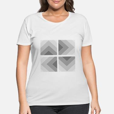 Quadrat Geometric Abstract Quadrat Geometry - Women's Plus Size T-Shirt