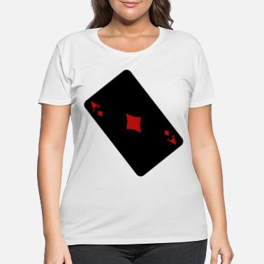 Vegas Diamonds ace - Women's Plus Size T-Shirt