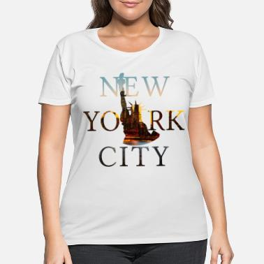 Nyc New York, New York City, NYC, Lady Liberty, Statue - Women's Plus Size T-Shirt
