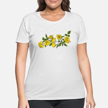 Yellow Yellow roses - Women's Plus Size T-Shirt