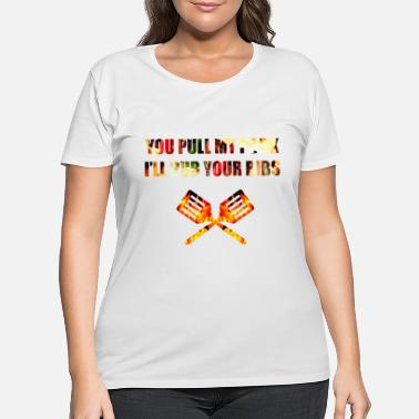 United you pull my pork i rub your ribs - Women's Plus Size T-Shirt