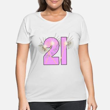 21st Birthday 21st Birthday - Women's Plus Size T-Shirt