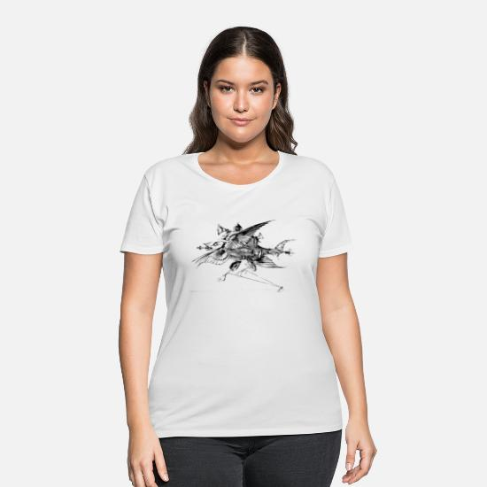 Art T-Shirts - surreal - Women's Plus Size T-Shirt white
