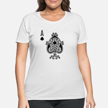Ace Of Spades Ace Of Spades Playing Card - Women's Plus Size T-Shirt