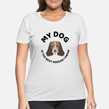 Dog Head The best person dog owner quote present - Women's Plus Size T-Shirt