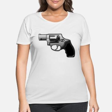 Revolver Revolver with many details in metallic look - Women's Plus Size T-Shirt