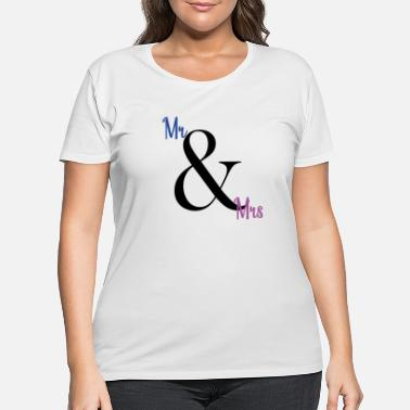 Mr And Mrs mr and mrs - Women's Plus Size T-Shirt