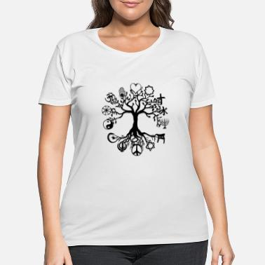 Tree Tree of Life Peace - Women's Plus Size T-Shirt