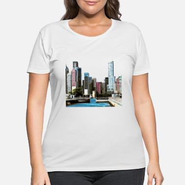 Chicago Chicago IL - Chicago Harbor Lock - Women's Plus Size T-Shirt