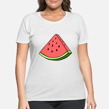 Wedge Watermelon Wedge - Women's Plus Size T-Shirt