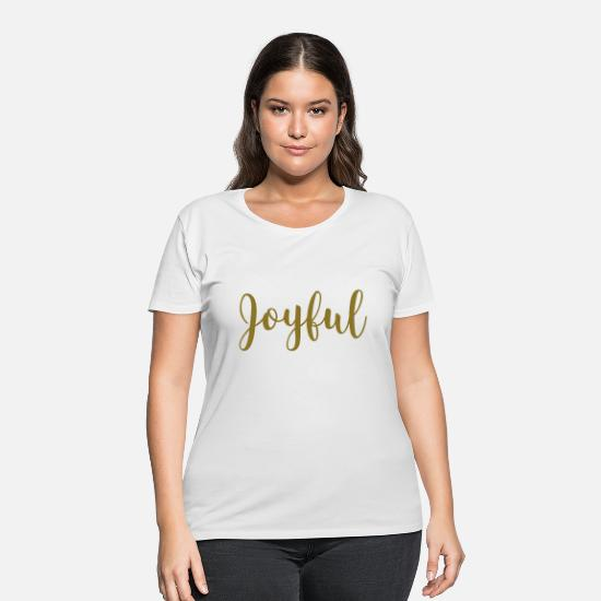 Christmas T-Shirts - joyful - Women's Plus Size T-Shirt white