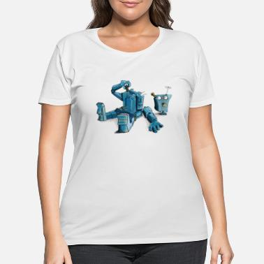 Robot Robot - Women's Plus Size T-Shirt