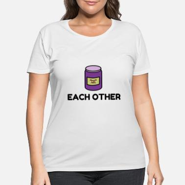 Couples Peanut Butter and Jelly Match - Women's Plus Size T-Shirt
