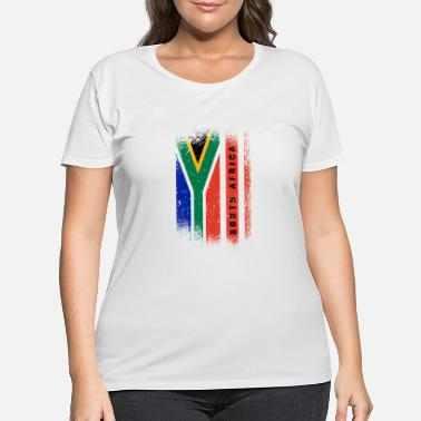 Arm South Africa Flag / Gift Cape Town Johannesburg - Women's Plus Size T-Shirt