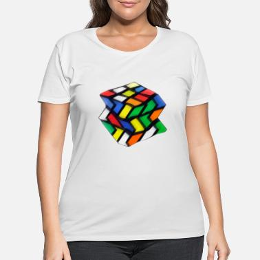 Twisted zi-za- rubiks cube game design - Women's Plus Size T-Shirt