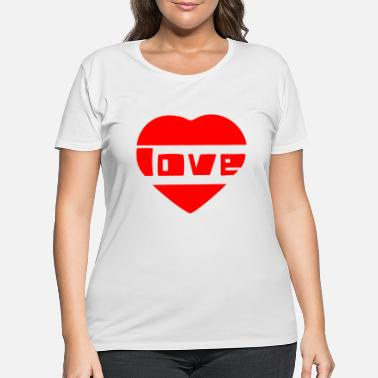 Love With Heart love with heart - Women's Plus Size T-Shirt