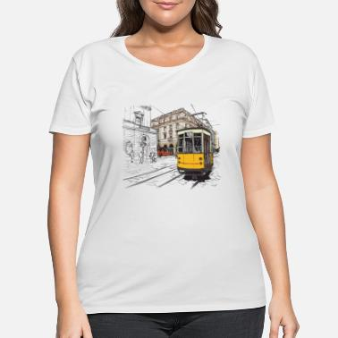 Vehicle My sweet town hand drawn - Women's Plus Size T-Shirt
