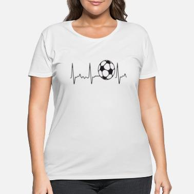 College soccer puls - Women's Plus Size T-Shirt