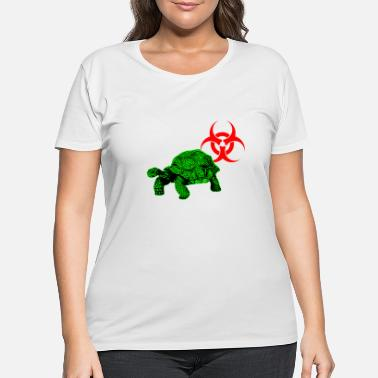 Sea Turtle Bio Hazard - Women's Plus Size T-Shirt