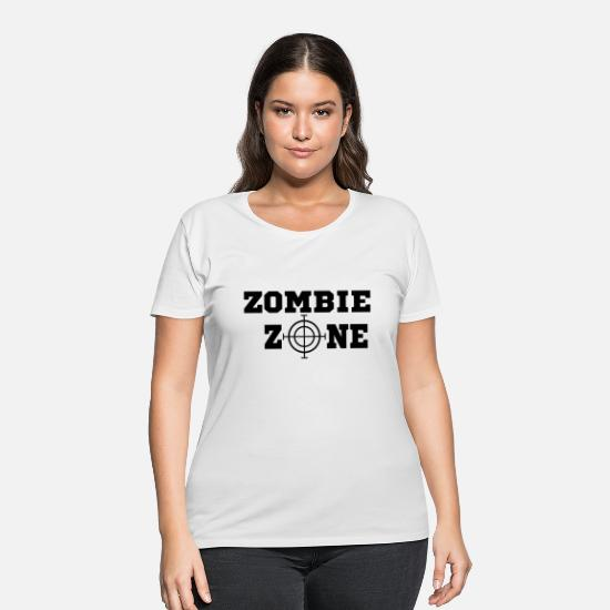 Gun T-Shirts - Zombie Zone Visor black - Women's Plus Size T-Shirt white