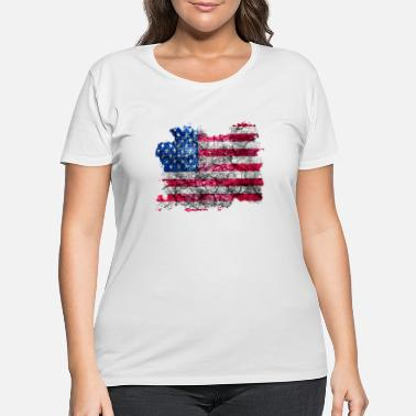 United States United States Vintage Flag - Women's Plus Size T-Shirt