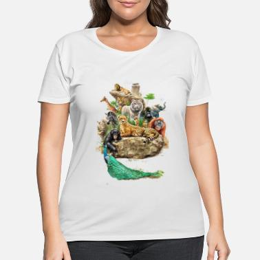 Zoo Animal Wild Zoo Animals Design - Women's Plus Size T-Shirt