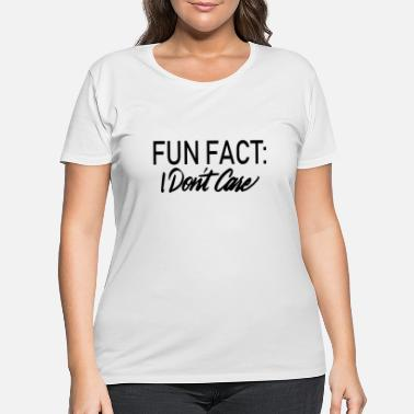 Plus WOMEN PLUS SIZE TORRID FUN FACT WHITE skeleton - Women's Plus Size T-Shirt